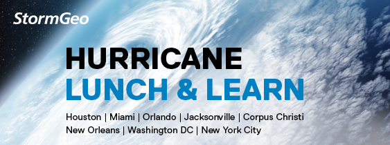 StormGeo Hurricane Lunch and Learn Banner
