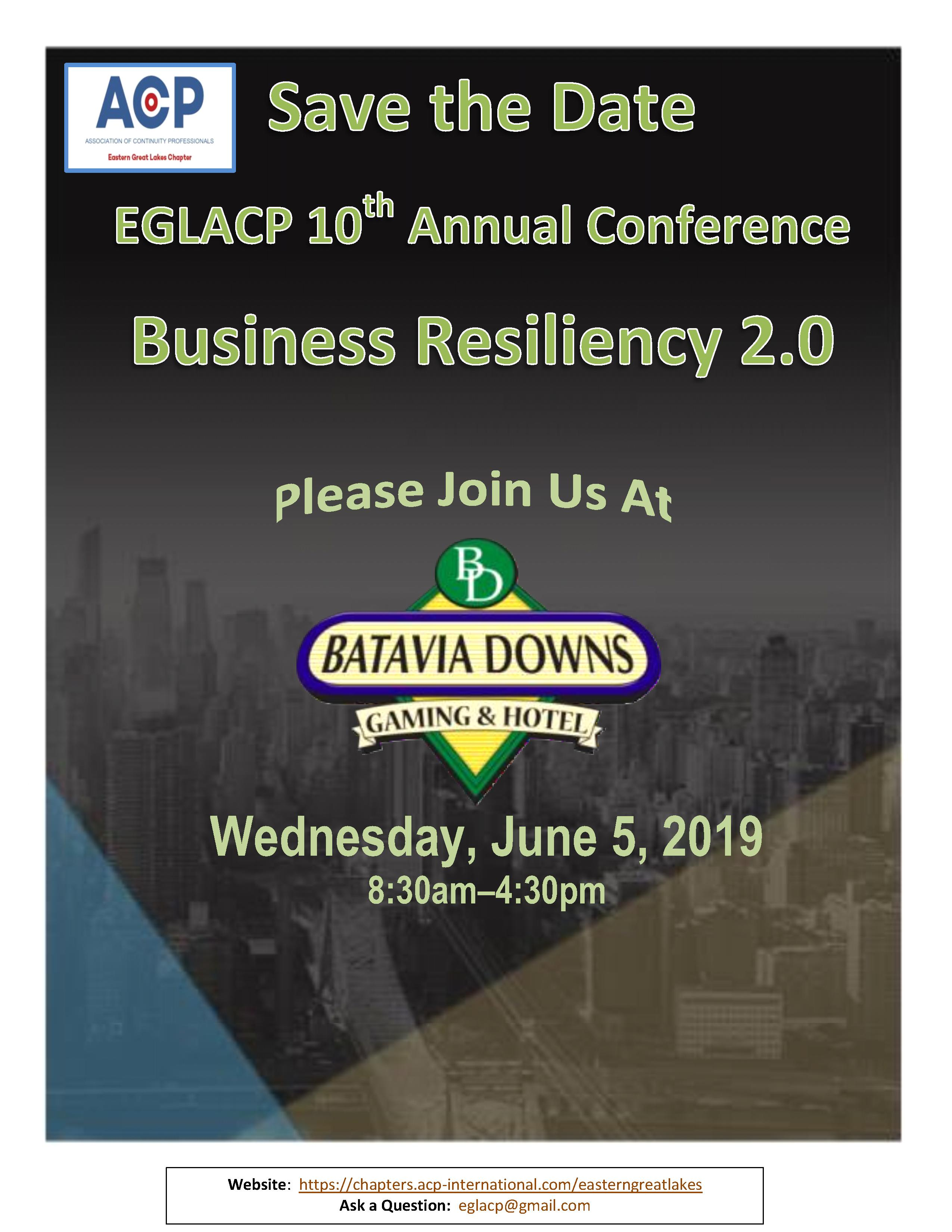 2019 EGLACP SAVE THE DATE
