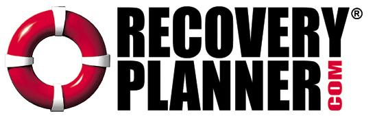 logo recovery planner red